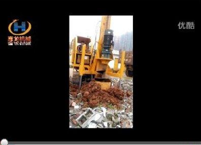 旋挖钻机5米施工视频现场