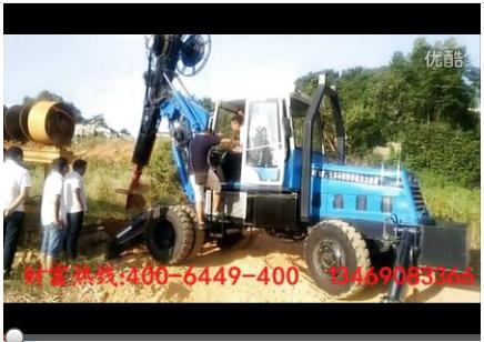 祁阳陈老板旋挖钻机施工视频-惠龙机械